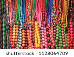 beads. colored multicolored... | Shutterstock . vector #1128064709