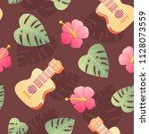the 70's. hot summer seamless... | Shutterstock .eps vector #1128073559