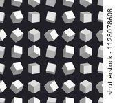 3d cubes seamless pattern... | Shutterstock .eps vector #1128078608