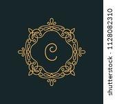 c letter luxury logo template...   Shutterstock .eps vector #1128082310