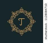 t letter luxury logo template...   Shutterstock .eps vector #1128084710