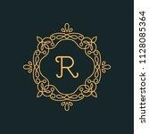 r letter luxury logo template...   Shutterstock .eps vector #1128085364