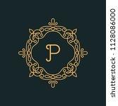 p letter luxury logo template...   Shutterstock .eps vector #1128086000
