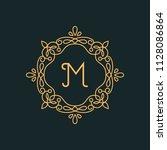 m letter luxury logo template...   Shutterstock .eps vector #1128086864