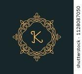 k letter luxury logo template...   Shutterstock .eps vector #1128087050