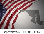 waving colorful national flag... | Shutterstock . vector #1128101189