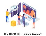 data analysis  search engine... | Shutterstock .eps vector #1128112229