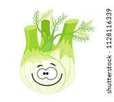 cute cartoon fennel  character... | Shutterstock .eps vector #1128116339