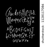 vector fonts   handwritten... | Shutterstock .eps vector #1128117086