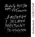 vector fonts   handwritten... | Shutterstock .eps vector #1128117149