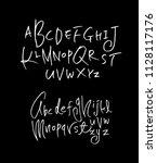 vector fonts   handwritten... | Shutterstock .eps vector #1128117176