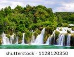 skradinski buk waterfall in...   Shutterstock . vector #1128120350