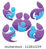 vector collection of family... | Shutterstock .eps vector #112812259
