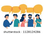 vector illustration group... | Shutterstock .eps vector #1128124286