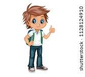 cartoon vector illustration of... | Shutterstock .eps vector #1128124910