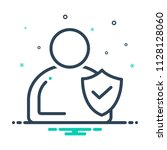 colorful icon for integrity   Shutterstock .eps vector #1128128060