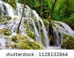 waterfall in krka national park ...   Shutterstock . vector #1128132866