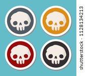 vector set of halloween icons... | Shutterstock .eps vector #1128134213