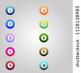 number bullet point markers 1... | Shutterstock .eps vector #1128138983