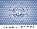 a true love story never ends... | Shutterstock .eps vector #1128139238