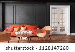 classic black interior living...   Shutterstock . vector #1128147260