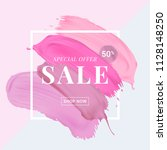 vector sale banner with text on ... | Shutterstock .eps vector #1128148250