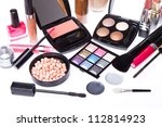 makeup set isolated on white... | Shutterstock . vector #112814923