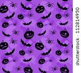 halloween pumpkins  bats and...   Shutterstock .eps vector #112814950