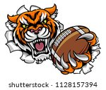 a tiger angry animal sports...   Shutterstock .eps vector #1128157394