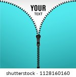 vector illustration. zippered... | Shutterstock .eps vector #1128160160