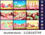collection of fairy tale... | Shutterstock .eps vector #1128165749