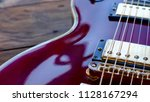guitar body . closeup       ... | Shutterstock . vector #1128167294