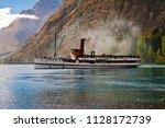 tss earnslaw  queenstown  new... | Shutterstock . vector #1128172739