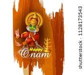 happy onam celebration... | Shutterstock .eps vector #1128173543