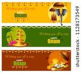 happy onam celebration... | Shutterstock .eps vector #1128173549