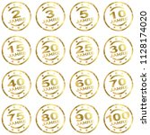 round grunge stamp collection... | Shutterstock .eps vector #1128174020