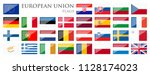 collection of flags from all... | Shutterstock .eps vector #1128174023