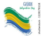 17 august  gabon independence... | Shutterstock .eps vector #1128178118