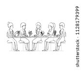 women in the table drinking... | Shutterstock .eps vector #1128179399