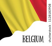 21 july  belgium independence... | Shutterstock .eps vector #1128183908