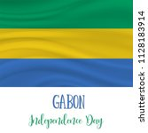 17 august  gabon independence... | Shutterstock .eps vector #1128183914