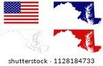 vector illustration of maryland ... | Shutterstock .eps vector #1128184733