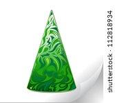 sticker with a fir tree | Shutterstock .eps vector #112818934