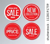 red circle sale banner and... | Shutterstock .eps vector #1128191759