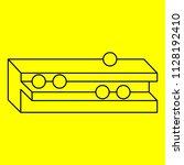 optical illusion  geometric...   Shutterstock .eps vector #1128192410