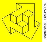 optical illusion  geometric... | Shutterstock .eps vector #1128192476