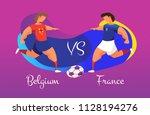a duel of football teams. a... | Shutterstock .eps vector #1128194276