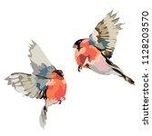 picture of two birds. vector | Shutterstock .eps vector #1128203570