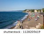 05 jul 2018  akcakoca public... | Shutterstock . vector #1128205619