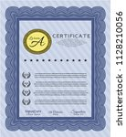 blue sample certificate or... | Shutterstock .eps vector #1128210056
